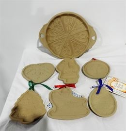 COOKIE CUTTER ORNAMENTS AND TRAY