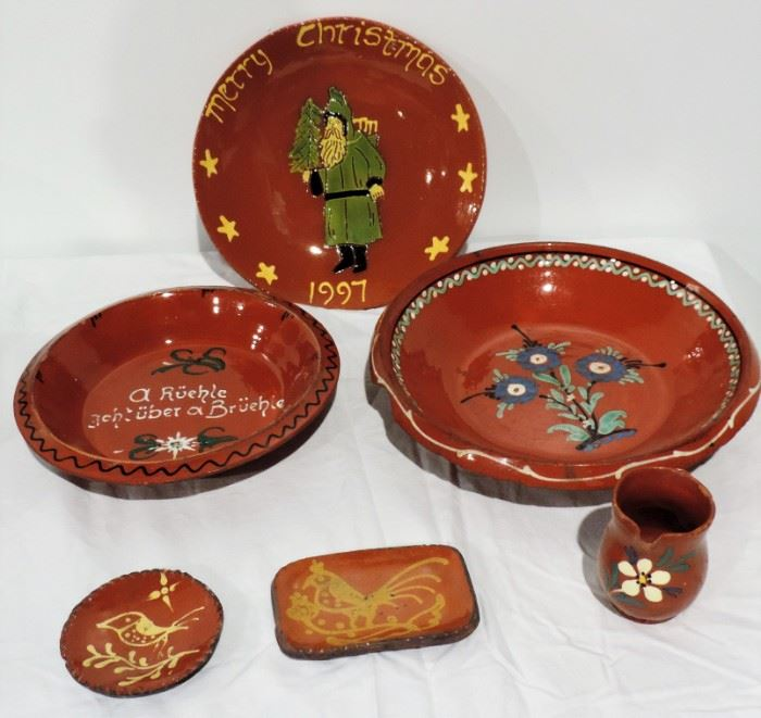 PAINT DECORATED RED WARE