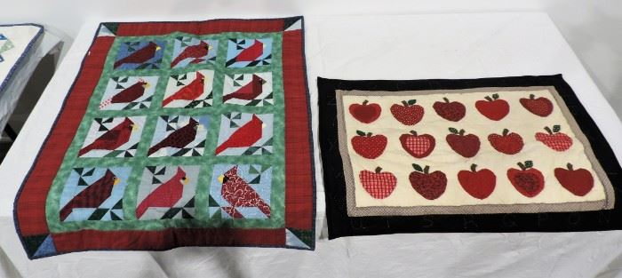 LOT OF 2 QUILT HANGINGS