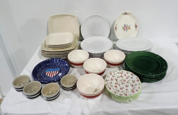 LARGE LOT OF KITCHEN DINNERWARE AND BOWLS