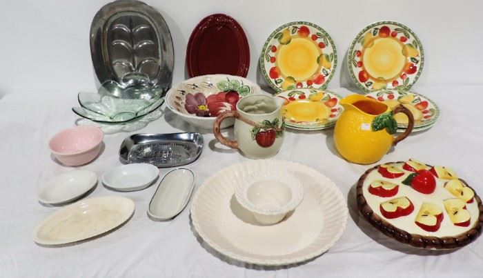 ANOTHER LARGE LOT OF KITCHEN WARE POTTERY