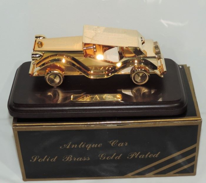 GOLD PLATED SOLID BRASS CAR MODEL