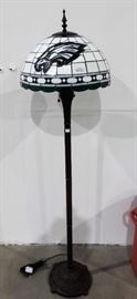 STAIN GLASS POLE LAMP