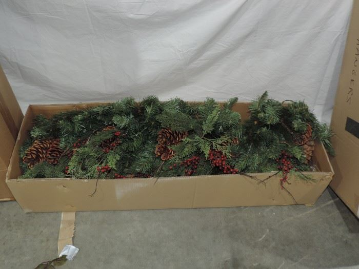 SHOWING PINE CONE GARLAND