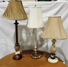 LOT OF 3 LAMPS