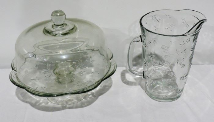 PRINCESS HOUSE CAKE STAND AND PITCHER
