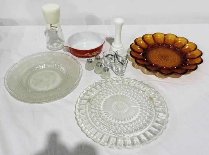SERVING GLASS TRAYS