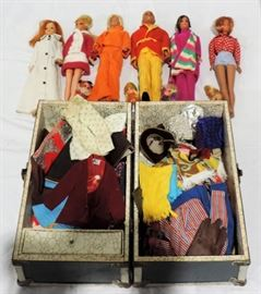 VINTAGE BARBIE DOLL CLOTHES AND DOLLS