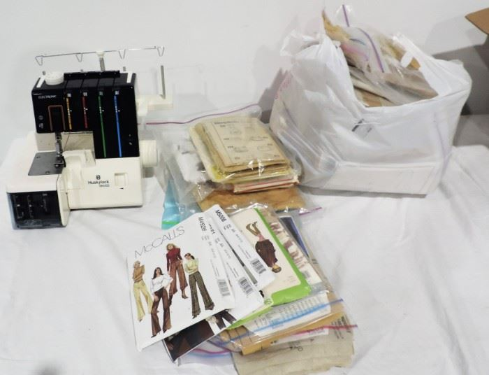 SEWING MACHINE AND CLOTHING PATTERNS
