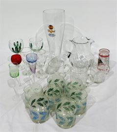 MISC. STEMWARE AND PITCHER