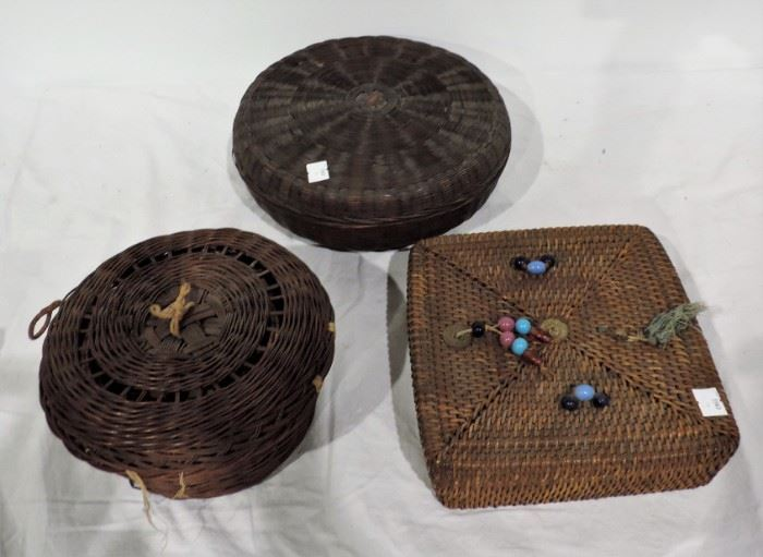 ANTIQUE SEWING BASKETS