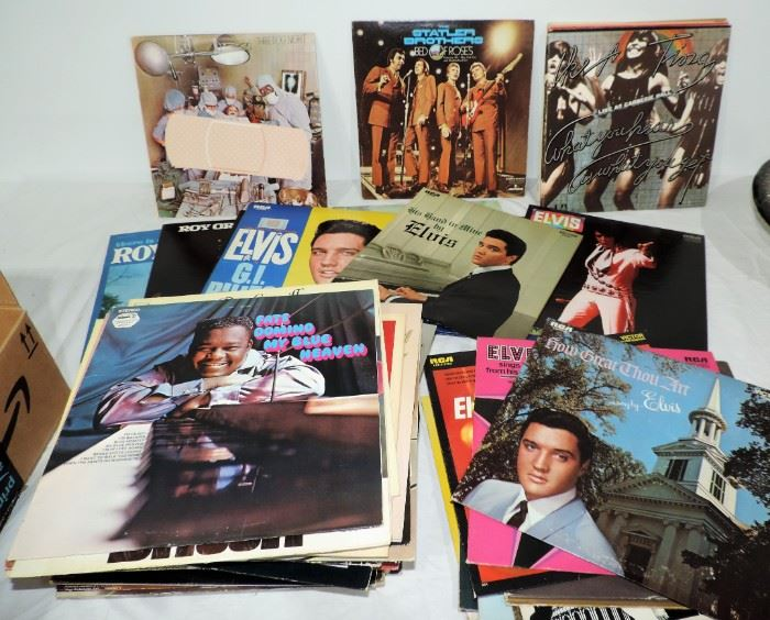 ROCK, COUNTRY, ELVIS AND OTHERS ALBUM LOT