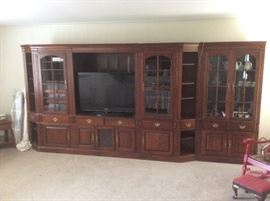 Very large bookcases and entertainment cabinets