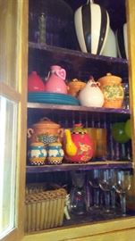 Lots of pottery and glassware