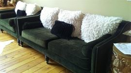 Z Gallery Sofa and Love Seat. Fantastic Forest Green