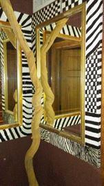 Jazzy Mirrors, twisted wood piece