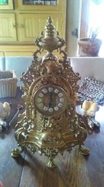 Exquisite French Clock with Matching Candelabras purchased in NY