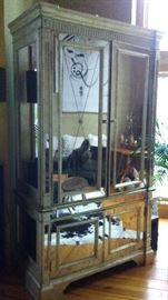Horchow Glass Armoire