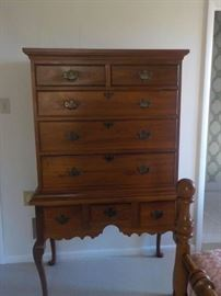 Handmade Virginia highboy/tall chest on stand