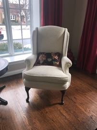 Matching Queen Anne Wing Chairs