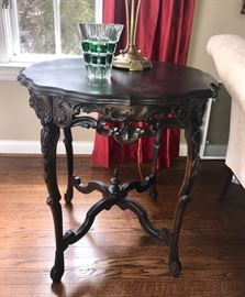 Antique Hand carved Antique lamp table
