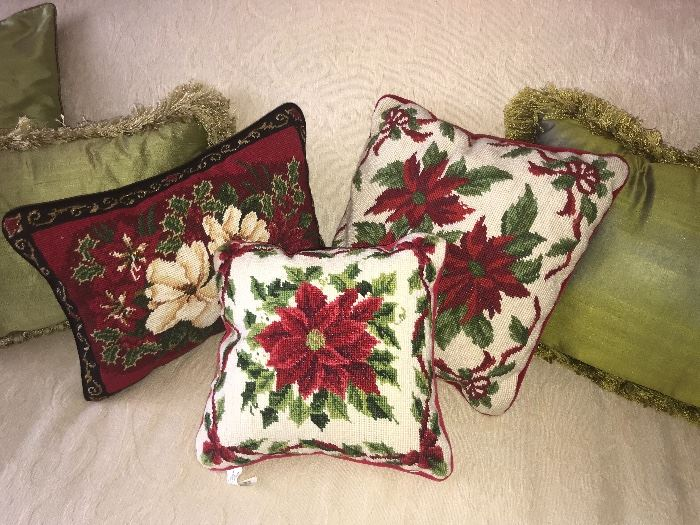 Needlepoint Christmas  Pillows