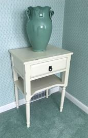 Cute little night stand/end table, and large vase