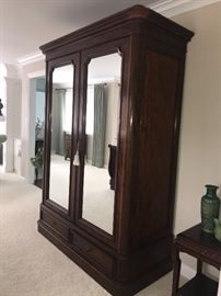 Large mirrored Armoire - can be dissembled for easy removal