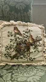Needlepoint pillow