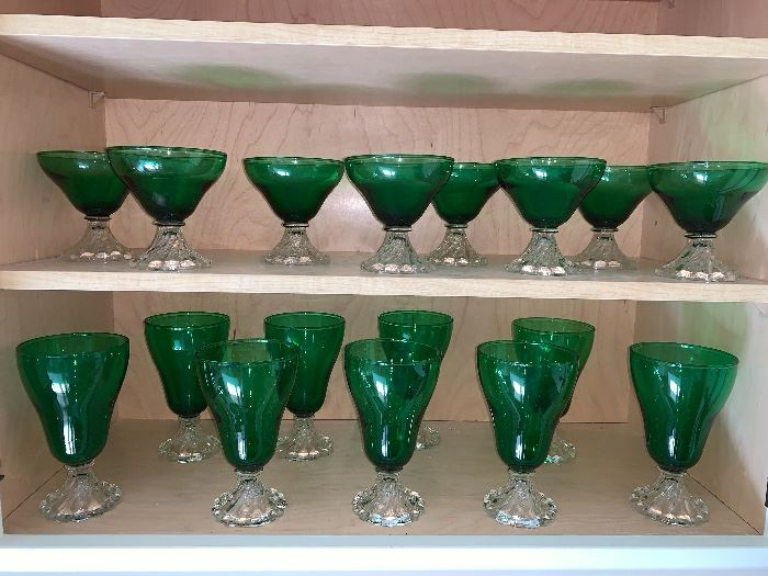 Gorgeous Green Stemware