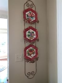 Wall plate holder