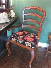 1 of 2 Country French arm chairs