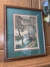 Framed art work