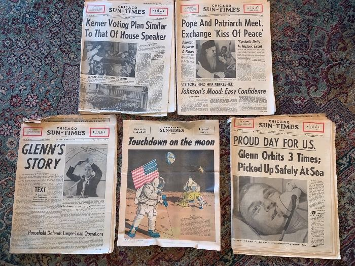 1960's Vintage newspapers
