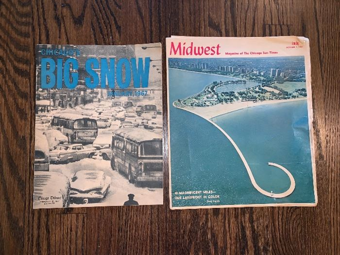 January 1967 Chicago's  The Big Show & 1965  Midwest Chicago Sun-Times Magazine