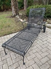 Wrought Iron Chaise