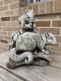 more statuary-squirrels