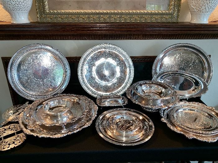 Silver Plate-serving dishes