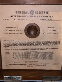 Vintage GE Alternating Current Ammeter