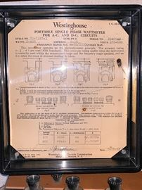 Vintage Westinghouse Portable single phase wattmeter for A-C and D-C circuits