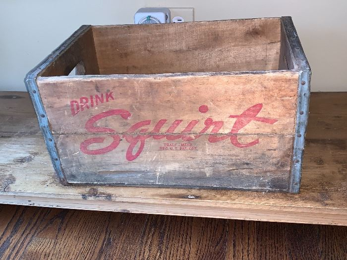 Vintage Squirt wood crate