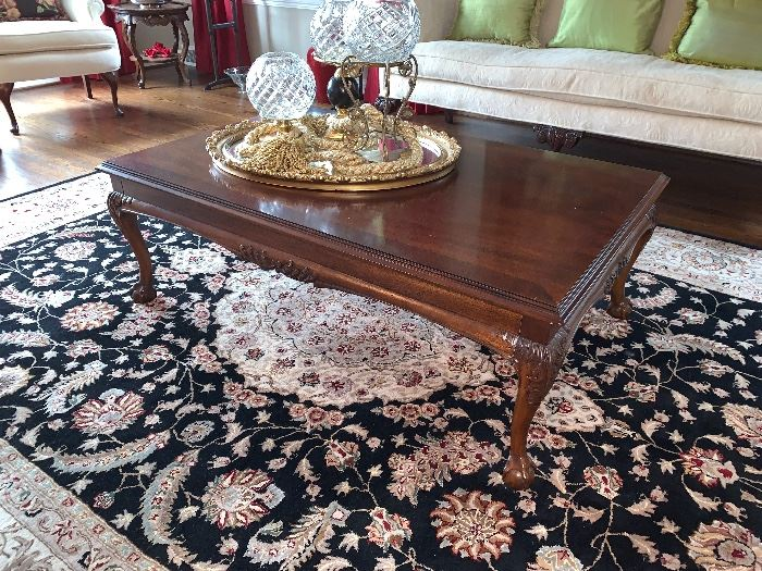 Queen Anne square coffee table