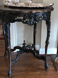 Exciting hand carved antique Lamp Table