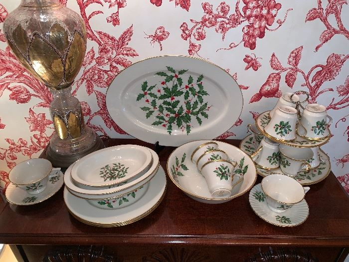 "Set of Lenox ""Holiday"" china"