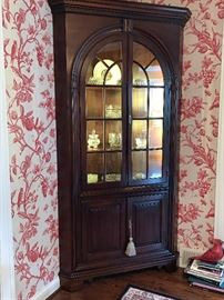 OMG-look at this Corner Cabinet-and lighted! gorgeous