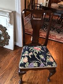 Queen Anne-great pattern on chairs