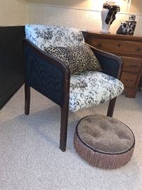 Comfy Chair and small ottoman