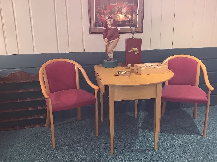 Mid-Century Blonde chairs and table