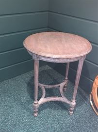 Vintage round side table