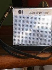Vintage Kroy Eight Transistor radio